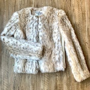 Urban Outfitters Faux Fur Coat Jacket - Small